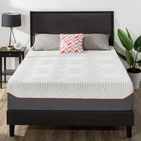 """Zinus Night Therapy 14"""" Cooling Memory Foam and iCoil Hybrid California King Mattress"""