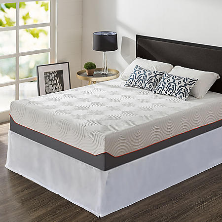 """Night Therapy 12"""" Cooling Memory Foam and iCoil Hybrid Queen Mattress SmartBase Set"""