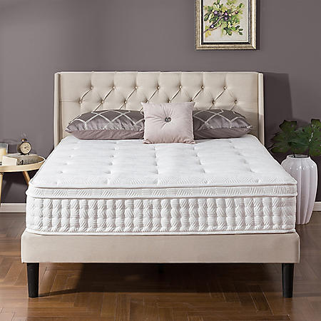 Zinus Night Therapy iCoil 12 Inch Euro Box Top Spring Queen Mattress