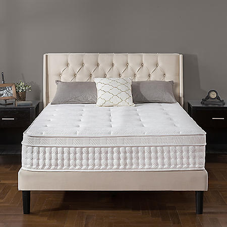 "Zinus Night Therapy iCoil 13"" Deluxe Euro Box Top Spring Mattress- King"