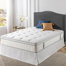 Night Therapy ICoil 12 Euro Boxtop Spring Mattress And SmartBase Bed Frame Set