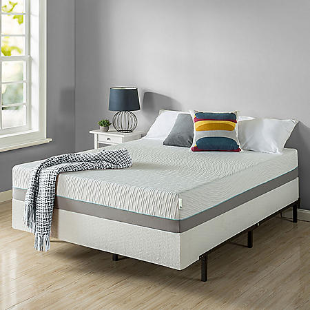 "Zinus Night Therapy Memory Foam 10"" Pressure Relief Full Mattress and BiFold Box Spring Set"