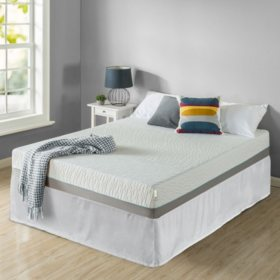 """Zinus Night Therapy Memory Foam 10"""" Pressure Relief Full Mattress and SmartBase Set"""