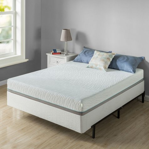 "Zinus Night Therapy Memory Foam 8"" Pressure Relief Queen Mattress and Bi-Fold Box Spring Set"