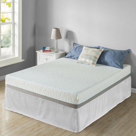 "Zinus Night Therapy Memory Foam 8"" Pressure Relief Queen Mattress and SmartBase Set"