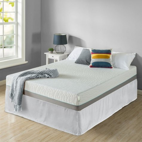 """Zinus Night Therapy Memory Foam 10"""" Pressure Relief Queen Mattress and SmartBase Set"""