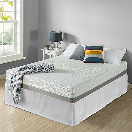 """Zinus Night Therapy Memory Foam 10"""" Pressure Relief Twin Mattress and SmartBase Set"""