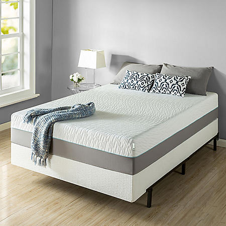 "Zinus Night Therapy Memory Foam 13"" Pressure Relief Queen Mattress and Bifold Box Spring Set"