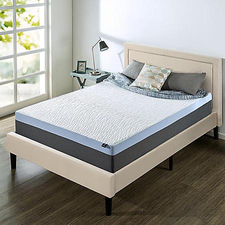"""Zinus Night Therapy 12"""" Gel Memory Foam Queen Mattress & Platform Bed Set"""