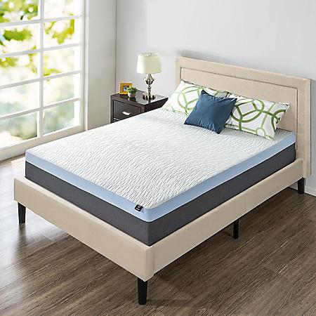 "Zinus Night Therapy 13"" Gel Memory Foam King Mattress & Platform Bed Set"