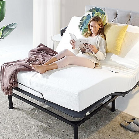 Zinus Night Therapy Twin XL Adjustable Bed Base with Custom Leg Height