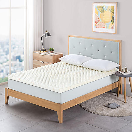 "Zinus Night Therapy 2"" Convoluted Copper Memory Foam Mattress Topper (Various Sizes)"