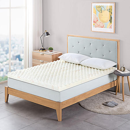 "Zinus Night Therapy 3"" Convoluted Copper Memory Foam Mattress Topper (Various Sizes)"