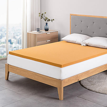 "Zinus Night Therapy 2"" Copper Memory Foam Mattress Topper (Various Sizes)"