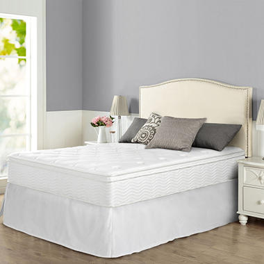 Night Therapy Icoil 12 Euro Boxtop Spring Mattress And Smartbase Bed Frame Set Queen