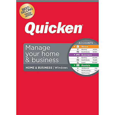Quicken Home & Business Personal Finance – Track personal and business transactions all in one place – 1-Year Subscription (Windows)