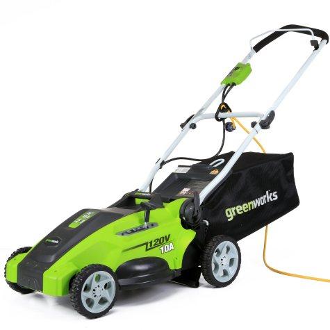 "GreenWorks 10 Amp 16"" Corded Lawn Mower"