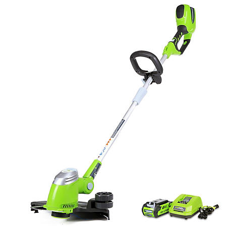 """GreenWorks G-MAX 40V 13"""" Cordless String Trimmer with 2AH Battery and Charger Inc."""