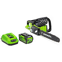 Deals on Greenworks 16-In 40V Cordless Chainsaw 4AH Battery and Charger Included