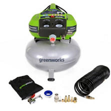 GreenWorks 6-Gallon Corded Air Compressor
