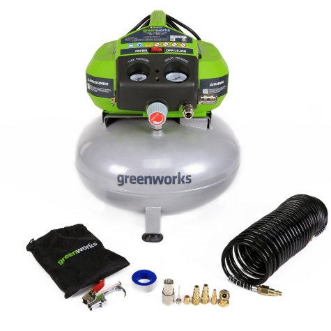 GreenWorks 6-Gallon Corded Air Compressor