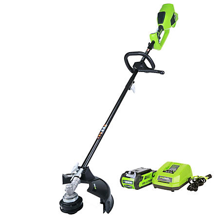 "GreenWorks G-MAX 40V Digipro 14"" String Trimmer w/ 1 Battery & Charger Included"
