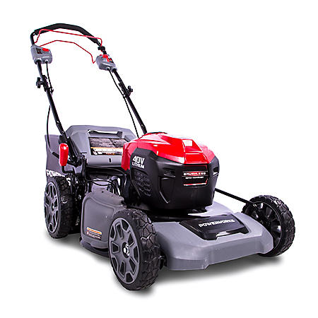 Powerworks 21 Inch 40V Lithium Self-Propelled Mower, 5 Ah Battery and Charger Included PD40LM51SPK5