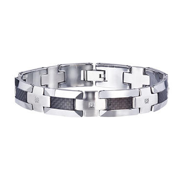 Men's Tungsten Carbon Fiber Bracelet