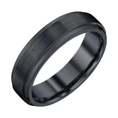 Men's 6mm Black Tungsten Wedding Band