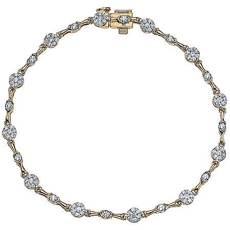 0.96 CT. T.W. Diamond Bracelet in 14K Two Tone Gold