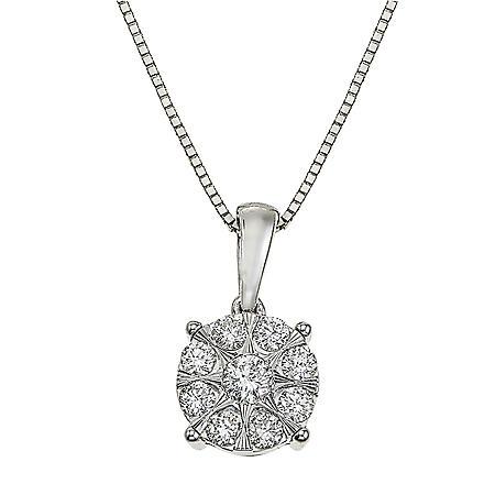 3/8 CT. T.W. Diamond Pendant in 14K White Gold
