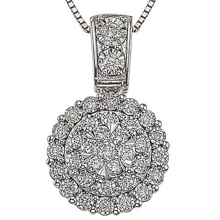 0.46 CT. T.W. Diamond Pendant in 14K White Gold