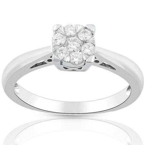 0.23 CT. T.W. Diamond Ring in 14K White Gold