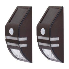 Westinghouse Stainless Steel Solar Motion Sensing Multi-Use Security  Light Set – 2 PK