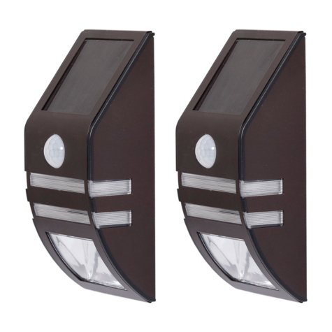 Westinghouse Stainless Steel Solar Motion Sensing Multi-Use Security  Light Set – 2 PK