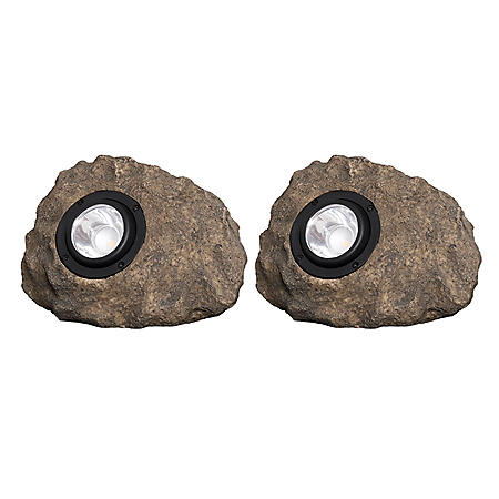 2-Pack Solar Rock Light