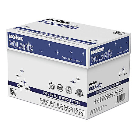 Boise POLARIS Copy Paper, 8 1/2 x 11, White (5,000 Sheets/Carton)