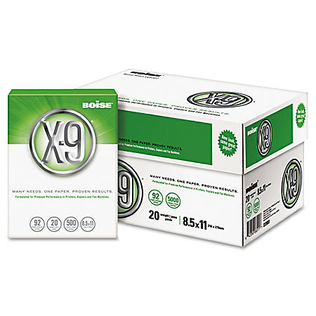 "Boise - X9 Multipurpose Paper, 20lb, 92 Bright, 8-1/2 x 11"" (Case)"