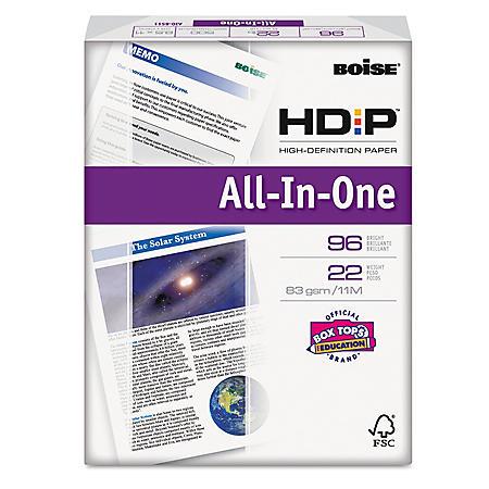 Boise ASPEN HD:P All-In-1 Office Paper, 96 Brightness, 8-1/2 x 11, White - 500 Sheets/Ream