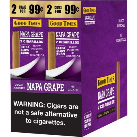 Good Times Grape Cigars (2 pk., 30 ct.)