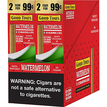 Good Times Watermelon Cigars 2 for $.99 (30/2pk., 60 ct.)