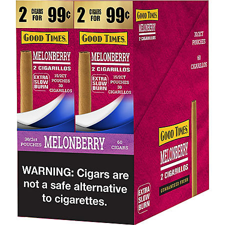 Good Times Melon Berry Cigars 2 for $.99 (30/2pk., 60 ct.)