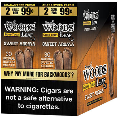 Good Times Sweet Woods Sweet Aroma Cigars (2 pk., 30 ct.)