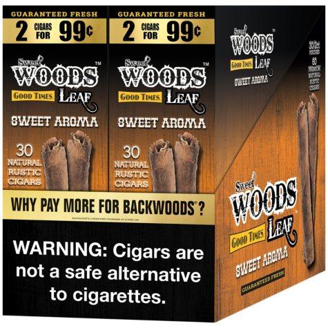 Good Times Sweet Woods Sweet Aroma Cigars (2 pk., 30 ct.)