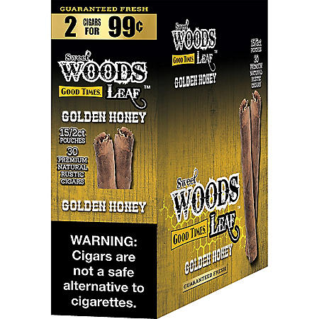 Sweet Woods Golden Honey Cigarillos, Pre-Marked 2/$0.99 (15 ct.)