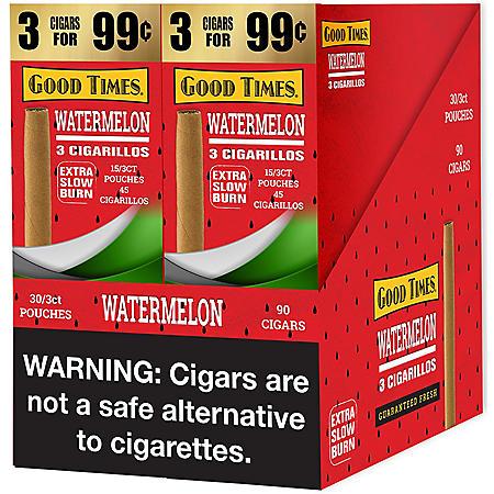 Good Times Watermelon Cigarillos (2 boxes, each 3 pk., 15 ct.)