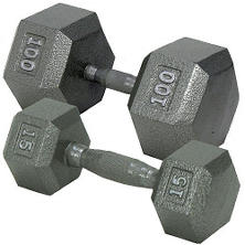 Hex Dumbbell with Ergonomic Handle - 20 lbs.