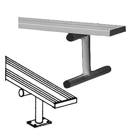 Alumagoal 7.5' Surface Mount Bench without Back
