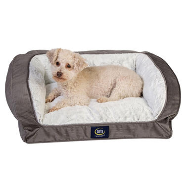Serta Perfect Sleeper Memory Foam Blend Couch Pet Bed, Gray (25