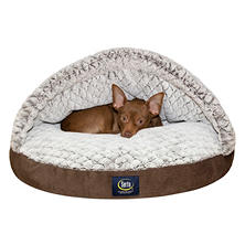 "Serta Ultra Comfort Canopy Pet Bed, Brown (25"")"